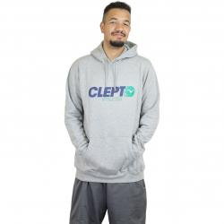 Cleptomanicx Hoody Lit grau