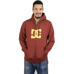 DC Shoes Zip-Hoody Star braun/gelb