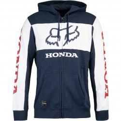 Hoody Fox Honda Zip blau