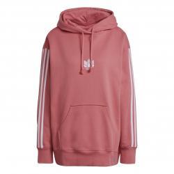 Adidas 3D Trefoil Oversize Damen Hoody rosa