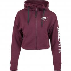 Nike Damen Zip-Hoody Air Fleece maroon/weiß