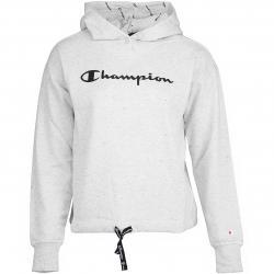 Champion Damen Hoody hellgrau/schwarz