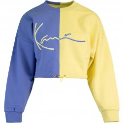 Karl Kani Signature Crop Block Damen Sweashirt blau/gelb