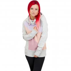 Mazine Damen Hoody Ervie hellgrau/rose