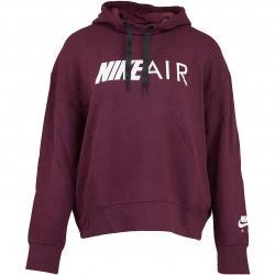 Nike Damen Hoody Air weinrot/weiß