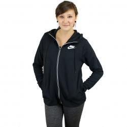 Nike Damen Zip-Hoody Advance 15 schwarz/weiß