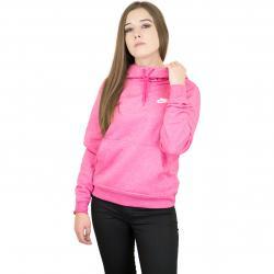 Nike Damen Hoody Funnel-Neck Fleece pink/weiß