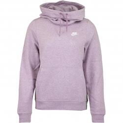 Nike Damen Hoody Funnel-Neck Fleece lila/weiß