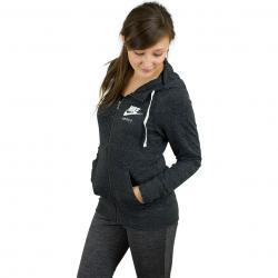 Nike Damen Zip-Hoody Gym Vintage schwarz/weiß