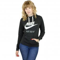 Nike Damen Hoody Gym Vintage schwarz/weiß