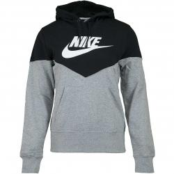 Nike Damen Hoody Heritage Fleece grau/schwarz