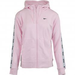 Nike Damen Zip-Hoody Logo Tape pink/schwarz