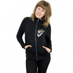 Nike Damen Zip-Hoodie Rally FZ GX1 schwarz/silber