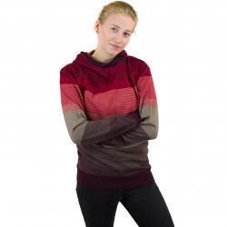 Urban Classics Damen Hoody Multicolored High Neck rot/mehrfarbig