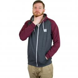 Iriedaily Zip-Hoody De College anthracite red