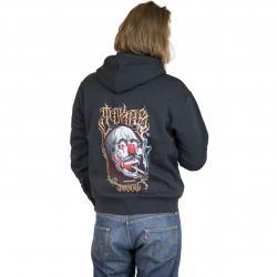 Joker Brand Zip-Hoody Skull schwarz