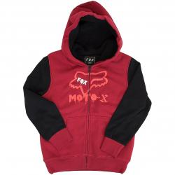 Fox Kinder Zip-Hoody Supercharged Sherpa rot