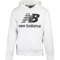New Balance Hoody Essentials Stack Logo weiß