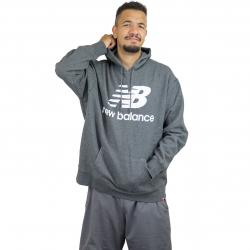New Balance Hoody Essentials Stacked dunkelgrau