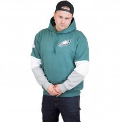 New Era Hoody Colour Block Philadelphia Eagles grün