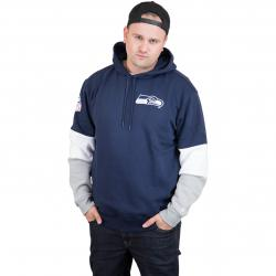 New Era Hoody Colour Block Seattle Seahawks dunkelblau