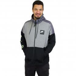 Nike Zip-Hoody Air Fleece carbon/weiß