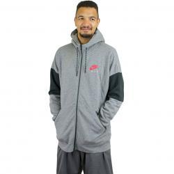 Nike Zip-Hoody Air grau/rot