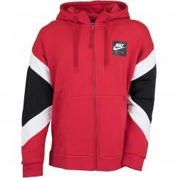 Nike Zip-Hoody Air rot/weiß