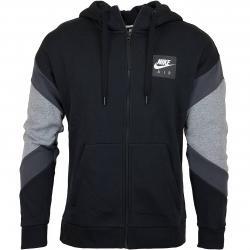 Nike Zip-Hoody Air schwarz/anthrazit
