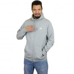 Nike Zip-Hoodie Fullzip Fleece Club dunkelgrau meliert