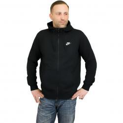 Nike Zip-Hoody FT Club schwarz/weiß