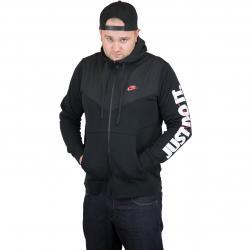 Nike Zip-Hoody HBR Fleece schwarz/rot