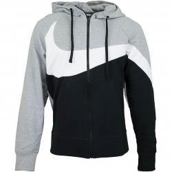 Nike Zip-Hoody HBR STMT French Terry FZ grau/schwarz