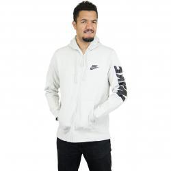 Nike Zip-Hoody Hybrid French Terry bone/schwarz