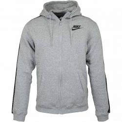 Nike Zip-Hoody Reg GFX grau/schwarz