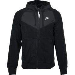 Nike Zip-Hoody Winter schwarz/weiß