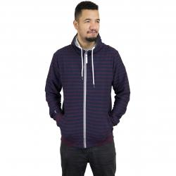 Ragwear Zip-Hoody Marty Stripes dunkelblau/rot
