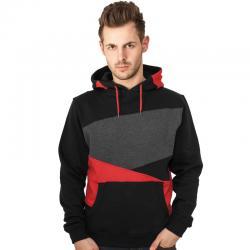 Urban Classics Hoody Zig Zag schwarz/rot/grau
