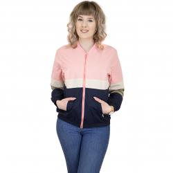 Cleptomanicx Damen Jacke Sailor rosa/weiß/dunkelblau