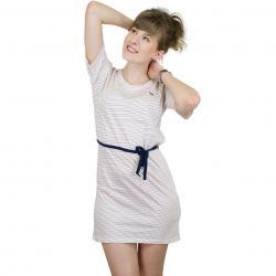 Iriedaily Kleid Stripe Schlesi weiß