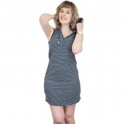 Ragwear Kleid Drip dunkelblau/weiß