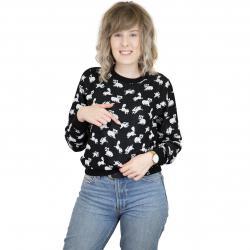Iriedaily Damen Sweatshirt Fluffle schwarz