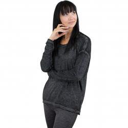 Khujo Damen Longshirt Ariana schwarz