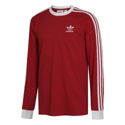 Adidas 3 Stripes Longsleeve rot