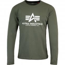 Alpha Industries Basic Herren Longsleeve dark olive