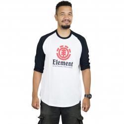 Element Longshirt Vertical Raglan weiß/schwarz