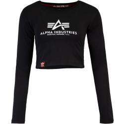 Alpha Industries Basic Cropped Damen Longsleeve schwarz