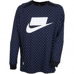 Nike Longsleeve Block Polka Dot dunkelblau/weiß