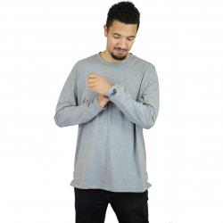 Nike Longshirt Bonded grau/schwarz