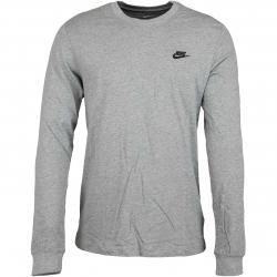 Nike Longsleeve Club grau/schwarz